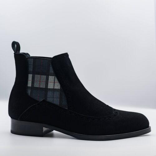 Black Suede Ankle Book