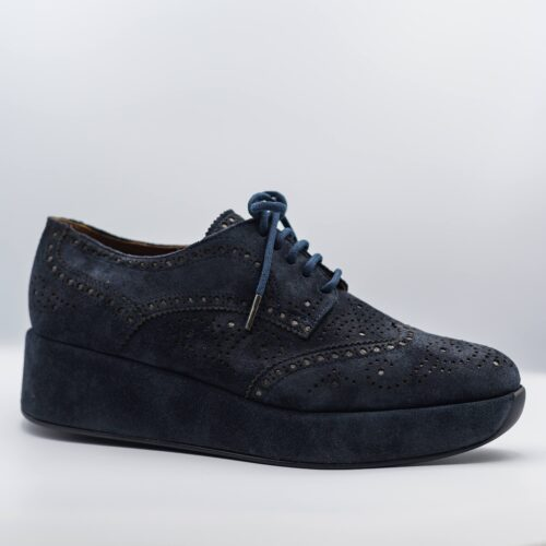 suede blue loafer
