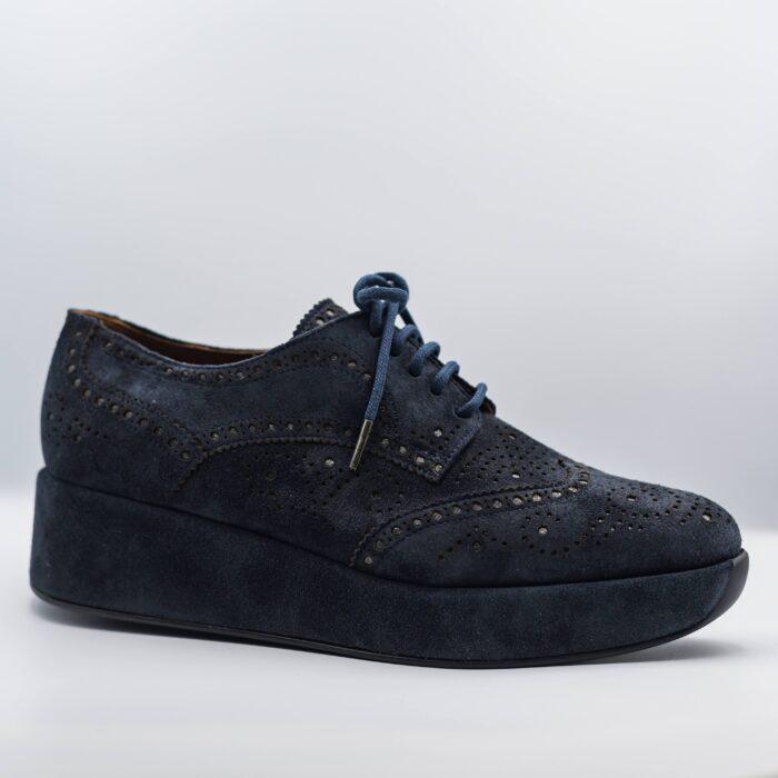 suede blue loafer
