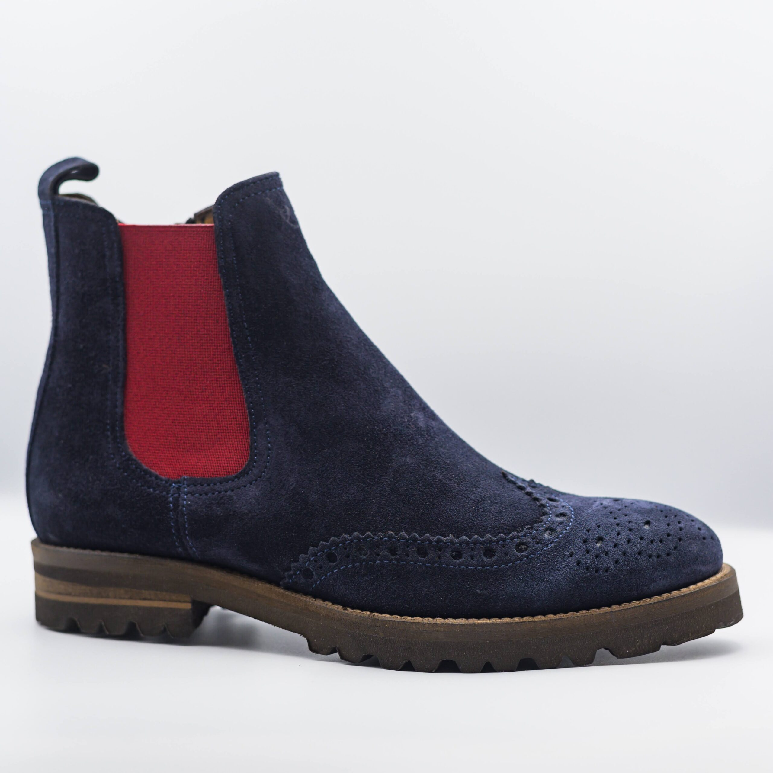 suede blue boot