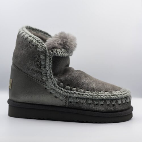 winter boots grey fuzzy